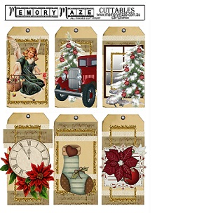 Christmas & vintage ephemera cuttable,tags.Min buy 5